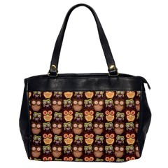 Eye Owl Line Brown Copy Office Handbags