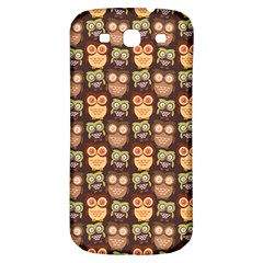 Eye Owl Line Brown Copy Samsung Galaxy S3 S III Classic Hardshell Back Case