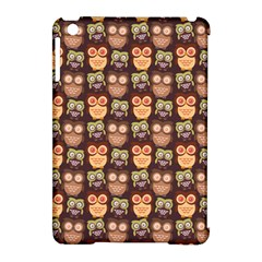 Eye Owl Line Brown Copy Apple iPad Mini Hardshell Case (Compatible with Smart Cover)