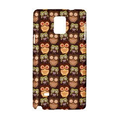 Eye Owl Line Brown Copy Samsung Galaxy Note 4 Hardshell Case