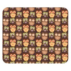 Eye Owl Line Brown Copy Double Sided Flano Blanket (Small)