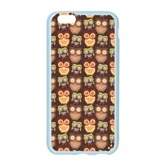 Eye Owl Line Brown Copy Apple Seamless iPhone 6/6S Case (Color)