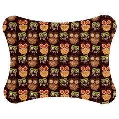 Eye Owl Line Brown Copy Jigsaw Puzzle Photo Stand (Bow)