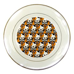 Face Cat Yellow Cute Porcelain Plates