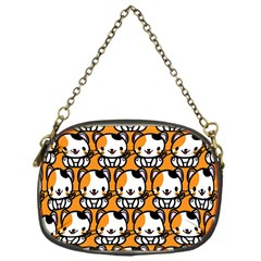 Face Cat Yellow Cute Chain Purses (One Side)