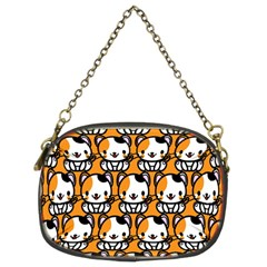 Face Cat Yellow Cute Chain Purses (Two Sides)