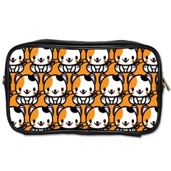 Face Cat Yellow Cute Toiletries Bags 2-Side