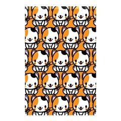 Face Cat Yellow Cute Shower Curtain 48  x 72  (Small)