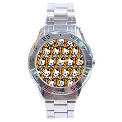 Face Cat Yellow Cute Stainless Steel Analogue Watch