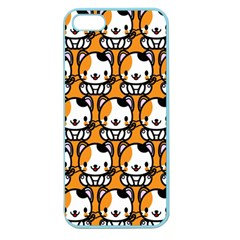 Face Cat Yellow Cute Apple Seamless iPhone 5 Case (Color)