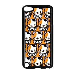 Face Cat Yellow Cute Apple iPod Touch 5 Case (Black)