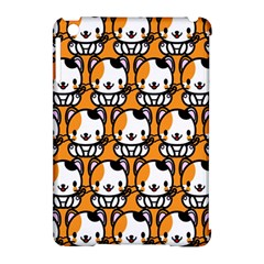 Face Cat Yellow Cute Apple iPad Mini Hardshell Case (Compatible with Smart Cover)