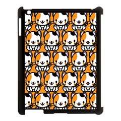 Face Cat Yellow Cute Apple iPad 3/4 Case (Black)