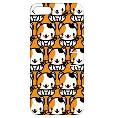 Face Cat Yellow Cute Apple iPhone 5 Hardshell Case with Stand