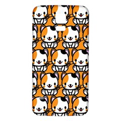 Face Cat Yellow Cute Samsung Galaxy S5 Back Case (White)