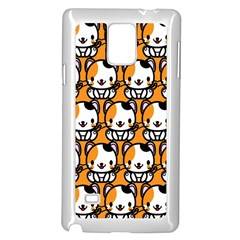Face Cat Yellow Cute Samsung Galaxy Note 4 Case (white)