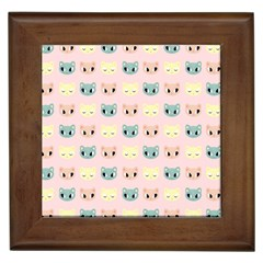 Face Cute Cat Framed Tiles