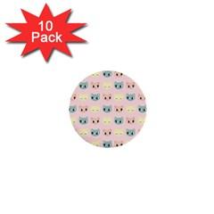 Face Cute Cat 1  Mini Buttons (10 pack)