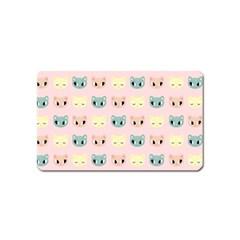 Face Cute Cat Magnet (Name Card)