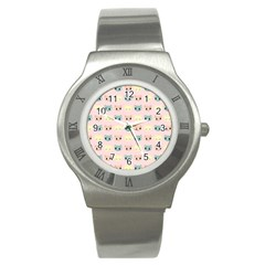 Face Cute Cat Stainless Steel Watch
