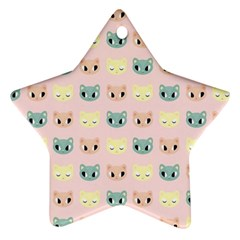 Face Cute Cat Star Ornament (Two Sides)