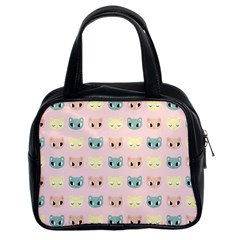 Face Cute Cat Classic Handbags (2 Sides)