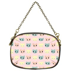 Face Cute Cat Chain Purses (One Side)