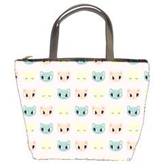 Face Cute Cat Bucket Bags