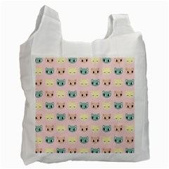 Face Cute Cat Recycle Bag (One Side)