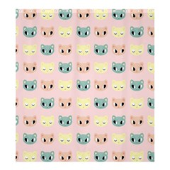 Face Cute Cat Shower Curtain 66  x 72  (Large)