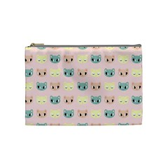 Face Cute Cat Cosmetic Bag (Medium)