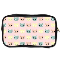 Face Cute Cat Toiletries Bags