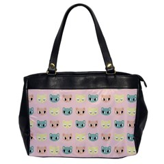 Face Cute Cat Office Handbags