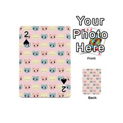 Face Cute Cat Playing Cards 54 (Mini)