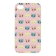 Face Cute Cat Apple iPhone 4/4S Premium Hardshell Case