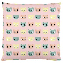 Face Cute Cat Large Cushion Case (Two Sides)