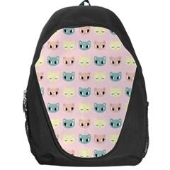 Face Cute Cat Backpack Bag