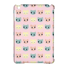 Face Cute Cat Apple iPad Mini Hardshell Case (Compatible with Smart Cover)