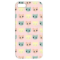 Face Cute Cat Apple iPhone 5 Hardshell Case with Stand