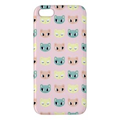 Face Cute Cat Apple iPhone 5 Premium Hardshell Case
