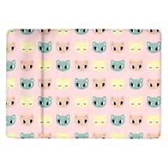 Face Cute Cat Samsung Galaxy Tab 10.1  P7500 Flip Case