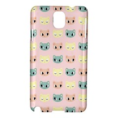 Face Cute Cat Samsung Galaxy Note 3 N9005 Hardshell Case