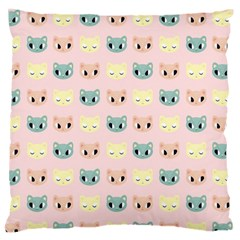 Face Cute Cat Large Flano Cushion Case (Two Sides)