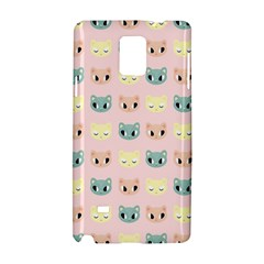 Face Cute Cat Samsung Galaxy Note 4 Hardshell Case