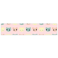Face Cute Cat Flano Scarf (Small)