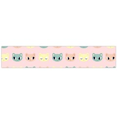Face Cute Cat Flano Scarf (Large)