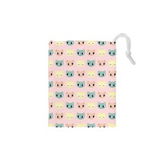 Face Cute Cat Drawstring Pouches (XS)