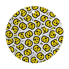 Face Smile Yellow Copy Ornament (Round)