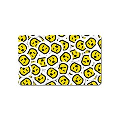 Face Smile Yellow Copy Magnet (Name Card)