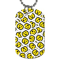 Face Smile Yellow Copy Dog Tag (Two Sides)